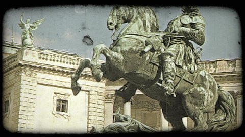 Vienna Statue 10. Vintage stylized video clip Live Action