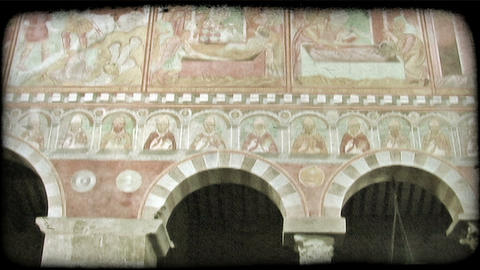 Columns and Arches 2. Vintage stylized video clip Footage