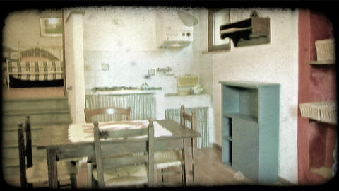 Italian home 5. Vintage stylized video clip Footage