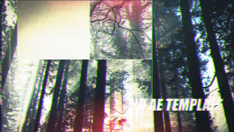 Glitch Film Opener After Effects Template