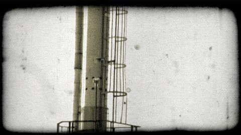 Kuwait oil refinery 9. Vintage stylized video clip Live Action