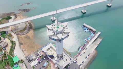 Aerial View of Chilsan Tower, Yeonggwang, Jeollanamdo, South Korea Asia 실사 촬영