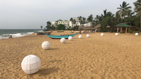 On the beach in Mount Lavinia Hotel Footage