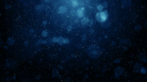Particles blue bokeh dust abstract light motion titles cinematic background loop CG動画素材