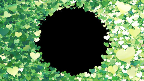 Glitter Heart Frame 1 Ch Green Animation