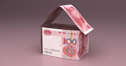 Real Estate with Chinese Yuan Animation