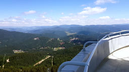 Bird-eye view from Snezhanka tower at Rhodope mountains during the summer season 영상물