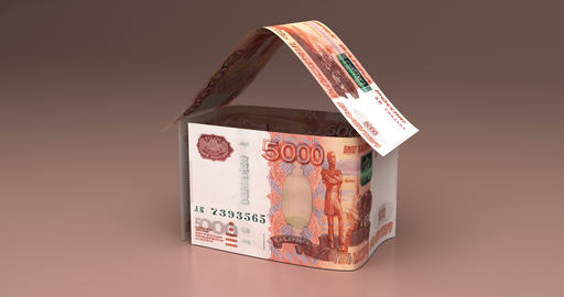 Real Estate with Russian Ruble Animation