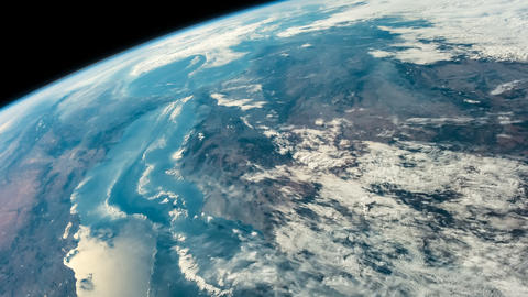 Time lapse of the planet earth from space.Sahara, south of Spain, Mediterrraneo Animation