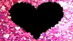 Glitter Heart Frame 1 Hh Pink CG動画素材