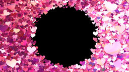 Glitter Heart Frame 1 Ch Pink Animation