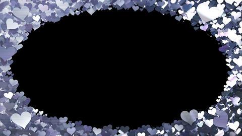 Glitter Heart Frame 1 Dh Silver Animation