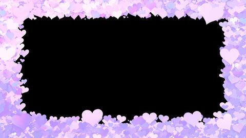 Glitter Heart Frame 1 Bh Violet CG動画素材