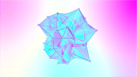 Animation of a shape metamorphosis of a polygonal semi transparent model Live Action