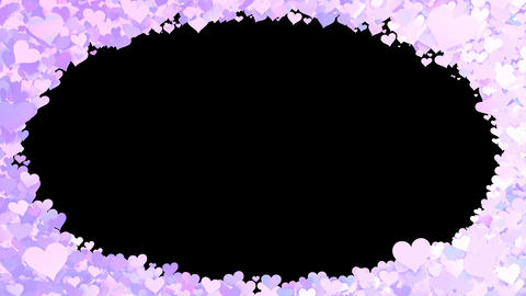 Glitter Heart Frame 1 Dh Violet CG動画素材