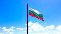 4K footage of Bulgarian national flag waving Footage