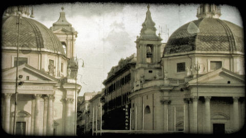 Rome Building 4. Vintage stylized video clip Live Action