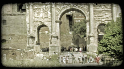 Rome Ruins 3. Vintage stylized video clip Footage