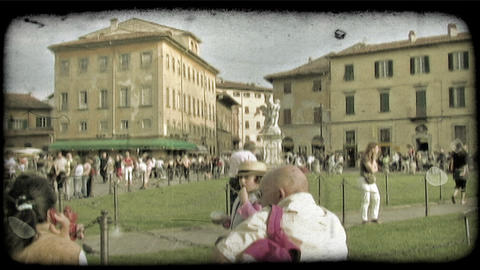 Italian Plaza 2. Vintage stylized video clip Live Action