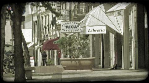 Italian sidewalk 1. Vintage stylized video clip Footage