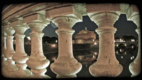 Rome Building 9. Vintage stylized video clip Live Action