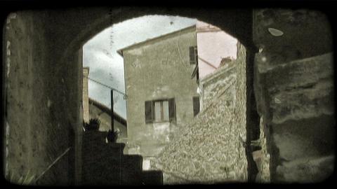 Italian tunnel 2. Vintage stylized video clip Footage
