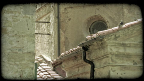 Italian Rooftops. Vintage stylized video clip Footage