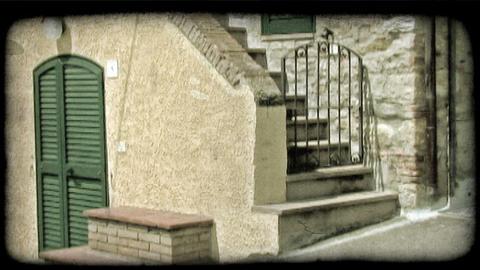 Back Steps 2. Vintage stylized video clip Footage