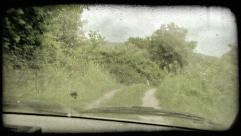 Dirt Road. Vintage stylized video clip Footage