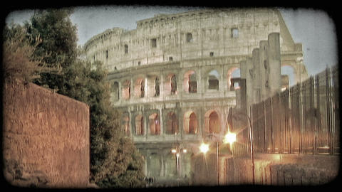 Colosseum 23. Vintage stylized video clip Live Action