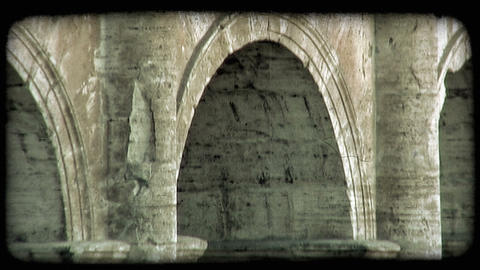 Close-up Arch 1. Vintage stylized video clip Live Action