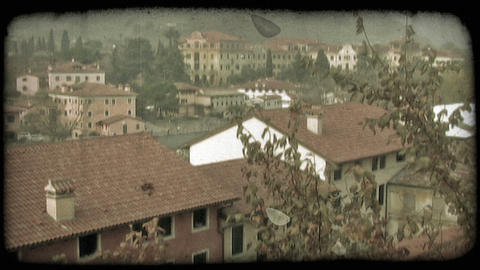 Italian old houses. Vintage stylized video clip Footage