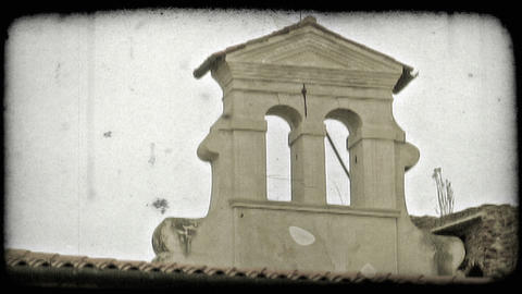 Religious Structure. Vintage stylized video clip Live Action