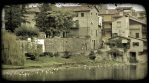 Covered Bridge 5. Vintage stylized video clip Live Action