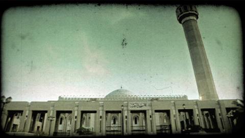 Kuwaitee Palace. Vintage stylized video clip Footage