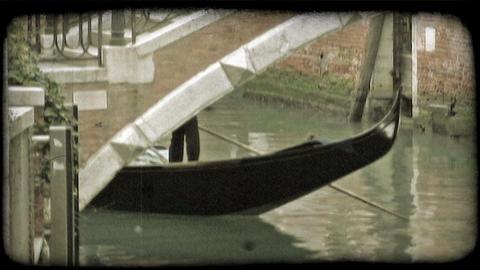 Gondola Ride. Vintage stylized video clip Live Action