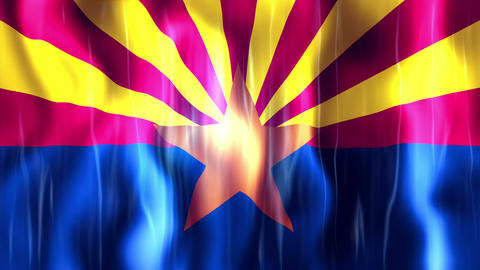 Arizona State Flag Animation CG動画素材