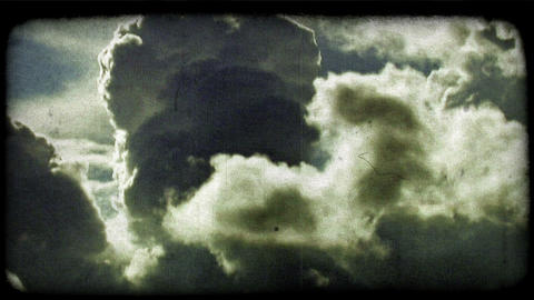 Clouds 1. Vintage stylized video clip Live Action