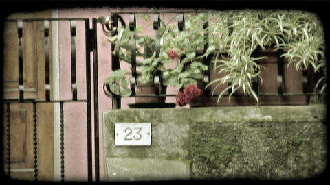Italian House Number. Vintage stylized video clip Live Action