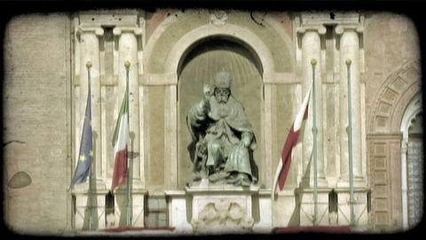 Italian Monument. Vintage stylized video clip Live Action