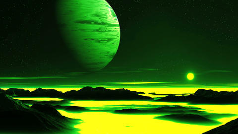 Toxic Planet Animation