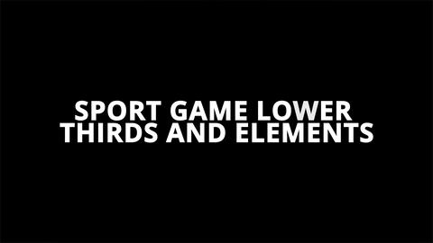 Sport Game Lower Thirds And Elements ME After Effects Template
