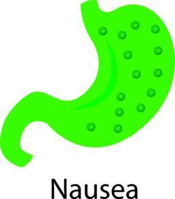 Nausea. Vector illustration in cartoon style Vector