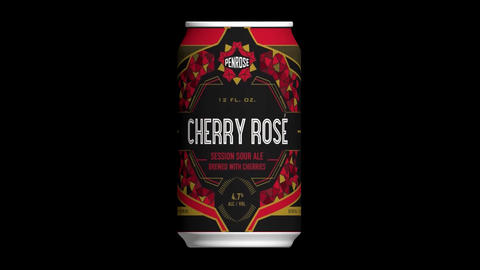 Penrose, cherry rose, session sour ale, brewed with cherries, penrose brewing, Animation