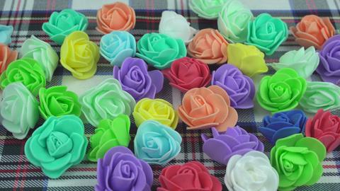 Color decorative florets Footage
