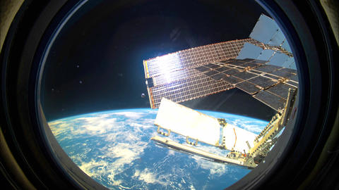 Planet Earth seen from the ISS. Space exploration of planet Earth Live Action