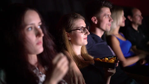 Watching a movie in a cinema - movie theater Live Action