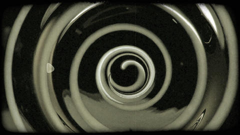 Close-up shot of a swirling object. Vintage stylized video clip Footage