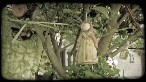 Hanging Doll. Vintage stylized video clip Live Action