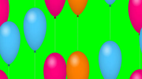 Flying party balloons Footage